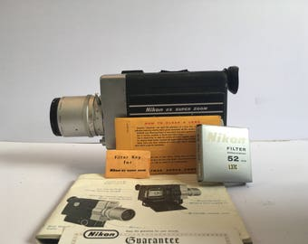Nikon 8X Super Zoom movie camara for super-8 film