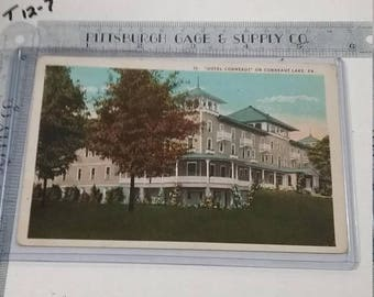 10% OFF 3 day sale Vintage used  Postcard Hotel Conneaut Conneaut Lake Pa