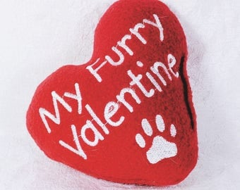 Valentine Dog Toy with Squeaker, Squeaky Dog Toy Made in US, My Furry Valentine, Plush Squeaker Dog Toys, Dog Valentine Gift