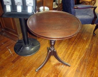 Mahogany lamp table