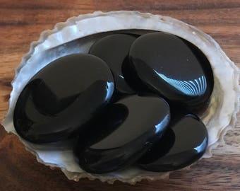 Black Obsidian Palm Stone, Spiritual Stone, Healing Stone, Healing Crystal, Chakra