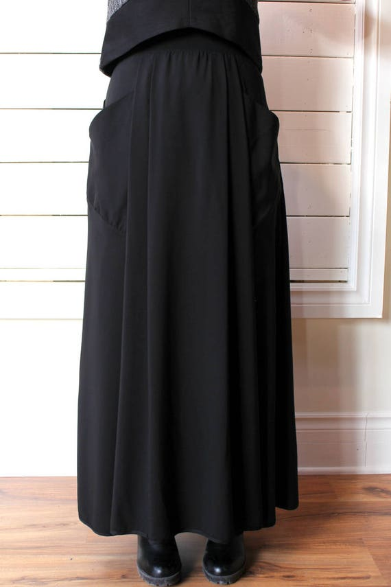 SKIRT 2013 - Long skirt with large front pockets - black