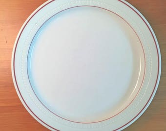 Syracuse China Red Line Dinner Plate
