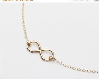 ON SALE Handmade 14k gold filled Infinity charm - 14k gold filled infinity necklace - everyday simple jewelry