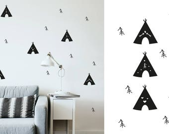 Wall decal - TeePee Tent - indian tipi