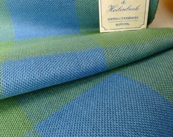 bande de lin 20cm bleu - vert carreaux 10 dr / cm Vaupel & Heilenbeck