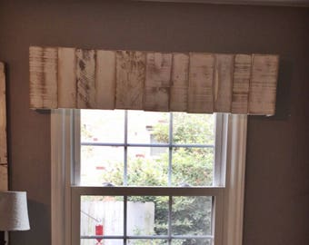 Rustic Wooden Valance//Rustic Wooden Cornice//Wooden Window Treatment//Wooden Cornice Board//Farmhouse Valance//Custom Wooden Valance//