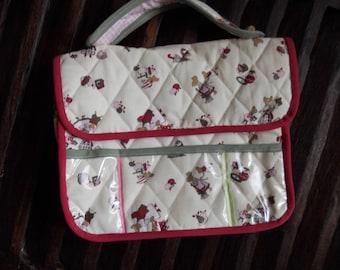 fabric padded canvas satchel
