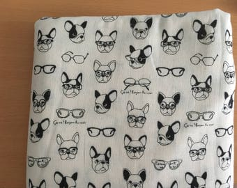 2.5m French Bulldogs Double Gauze