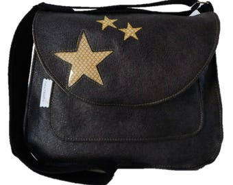 Large shoulder bag, starred in France