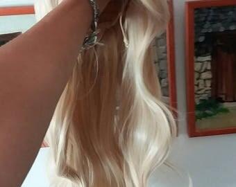 light blonde wig sintetic custom sexy