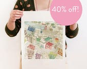 40% OFF! I had a dream I was flying with you over Paris - Reproduction of an original Artwork