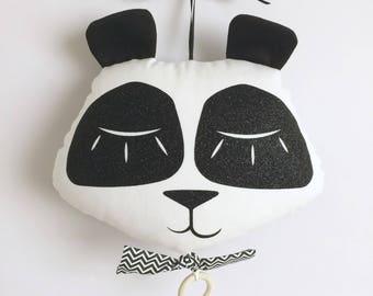 Mobile Musical Panda Blanc - Boite à musique - Une étoile dans ma cabane