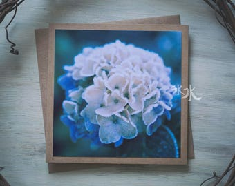 Floral Photo Card - Hydrangea - Last blossom