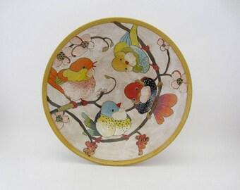 Flowers, Birds & Berries Medium Serving Bowl