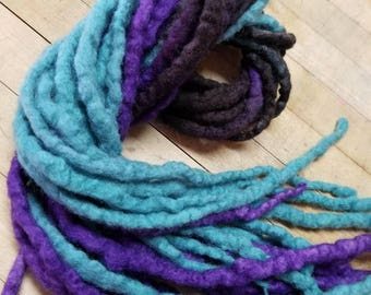 Wool Dreadlocks Custom Wool Dreads  Hippie Dreads Hair Extensions Wool Dreads Ombre Hair Accessories Set of 20