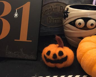 Felt Pumpkin Jack O Lantern Made to Order
