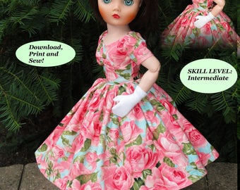 Doll Clothes PDF Pattern for Vintage 19'' Uneeda Dollikin Doll by NVME 19UD-3