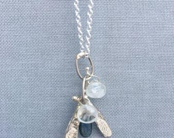 Falling Maple Seed Necklace