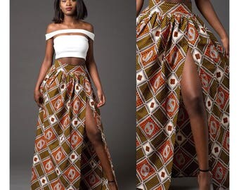 African clothing African skirt, African maxi skirt African dresses the African shop African print skirt Afrocentric clothing(TARA maxi skirt