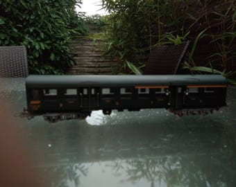 French vintage  old train locomotive miniature with original box SNCF train of FRANCE old train model