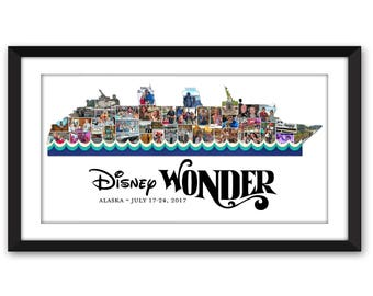 Disney Cruise Line Wonder Fantasy Dream Magic DCL Disneyland Fish Extender Inspired Custom Photo Collage Frame Digital Printable