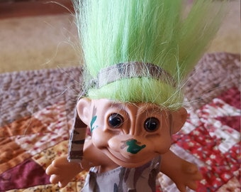 1980s vintage Russ Troll camo Military hunting camoflage troll toy