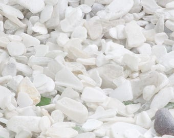 Moving Sale on White Ocean Tumbled Sea Glass Very Cheap