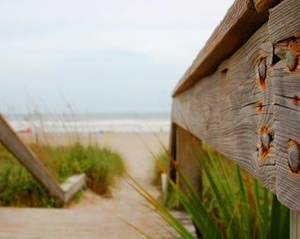 Beach Photography | Walkway to Paradise | Beach Decor | Summer Love | Cocoa Beach Florida | Wall Art Home Decor | Printable Art