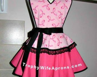 Apron # 508 - Breast cancer retro apron