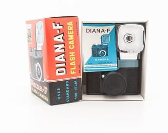 Original Diana F Flash Camera No 162 with original box manual strap - 120 film Camera Rare vintage 1960s toy camera - New Old Stock