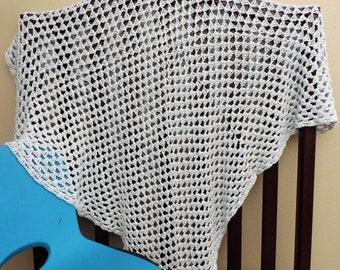 Baby Blue Crochet Baby Blanket