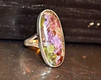Sterling Silver Siberia Charoite multi tourmaline 7 Artisan Handmade Jewelry