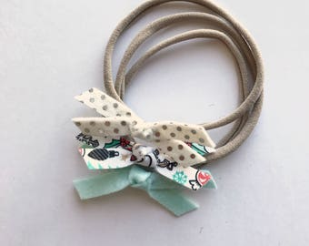 PICK ANY THREE mini bow set || pigtail bows - baby bows - girl hair clip - bows with clip -bow set - little girl headbands - felt bow - bow