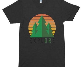ExplORe [Trees] - Short sleeve soft t-shirt