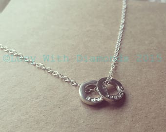 Personalised loop necklace in sterling silver name necklace mum necklace