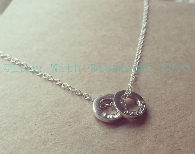 Personalised loop necklace in sterling silver