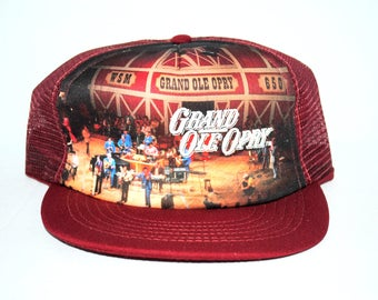 80's Grand Ole Opry Rare Vintage Legendary Nashville Country Music Venue Promo Mesh Trucker Snapback Hat