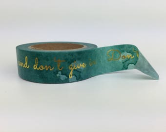 Washi Tape - Teal Words - 15mm x 10 metres - High Quality Masking Tape