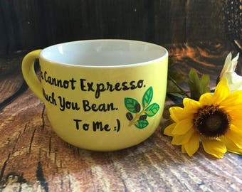 Large yellow mug