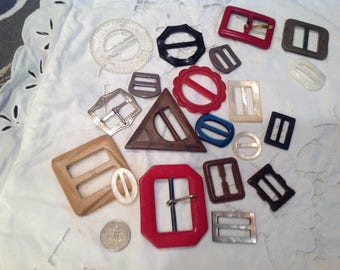 Vintage buckles, 20 assorted......group3