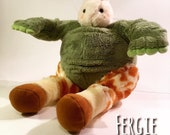 Handstitched and Re-imagined Plush Animal Mix, FrankenStuffs Fergie