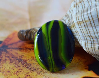 FREE SHIPPING, Glass ring, Fused glass jewelry, Fused glass ring, The single copy glass