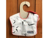 Flying High in this leakproof baby bib (Ready to ship)