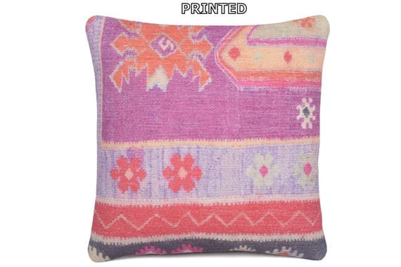 Colorful Rustic Throw Pillows : fuchsia kilim pillow rustic pillow sham 16x16 floral pillow