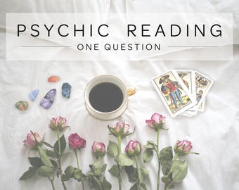 1 Question Psychic Reading with Medium & Empath - Oracle Card Reading - Tarot Card Reading - Email Reading