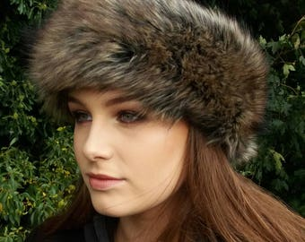 Faux Mink Fur Headband / Neckwarmer / Earwarmer Handmade in Lancashire England