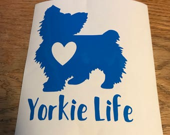Yorkie Decal