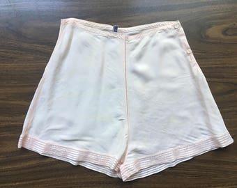Vintage 1940's Light Pink Tap Shorts