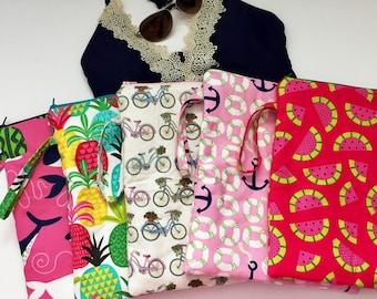 Pick Any 2 Wet Bags, Swimsuit bags, Waterproof Bag, Bikini Bag, Cloth Diaper Bag, Summer Swim Bag, Beach Bag, Zipper Pouches, Gift Under 40